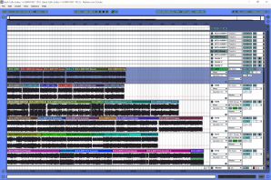 Bach Cello Concertos 1-6 Ableton Live Studio Screenshot - Arrangement view of Structure